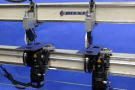 Узел резки для обрезки краёв с перестановкой формата с помощью рукоятки и сенсорной панели для промышленных системы резки